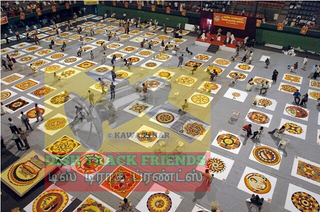 Dish track friends website wishes onam festival 2015 dishtrackfriends keralites make pookalam a type of rangoli that is designed with flowers from atham till thiruvonam pookalam competitions are also arranged throughout the m4hsunfo Images